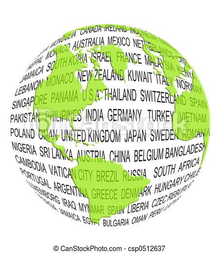 mondo, concetto, verde - csp0512637