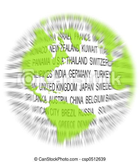 mondo, concetto, verde - csp0512639