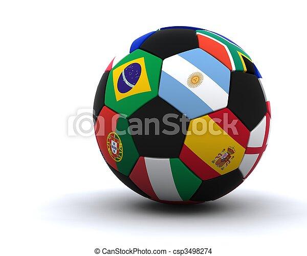 mondo, football, 2010, tazza - csp3498274