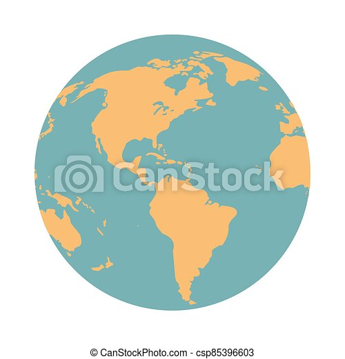 mondo, isolato, mappa terra, icona - csp85396603