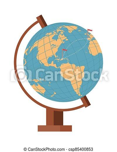 mondo, isolato, mappa terra, icona - csp85400853