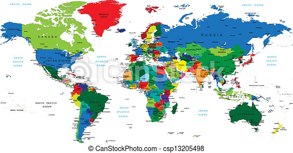 mondo, map-countries - csp13205498