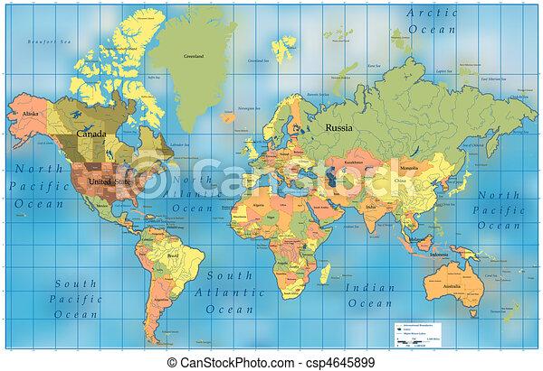 mondo, map. - csp4645899