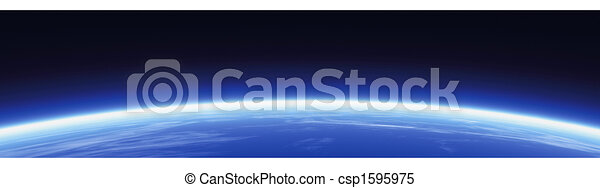 mondo, orizzonte, bandiera - csp1595975