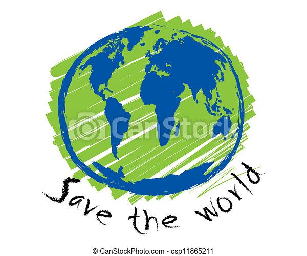 mondo, schizzo, concetto, idea, risparmiare - csp11865211