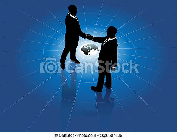 mondo, uomini, stretta di mano, affari, globale, accordo - csp6507839