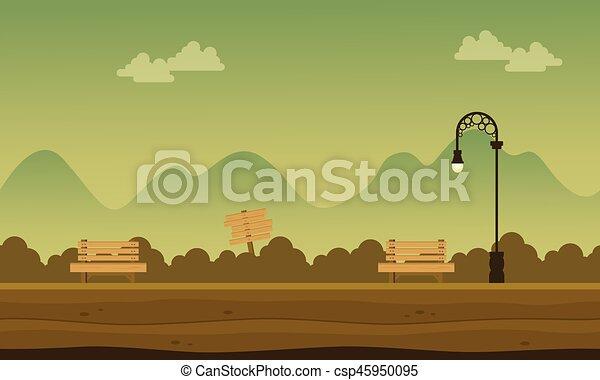 montagna, fondo, giardino, collezione - csp45950095