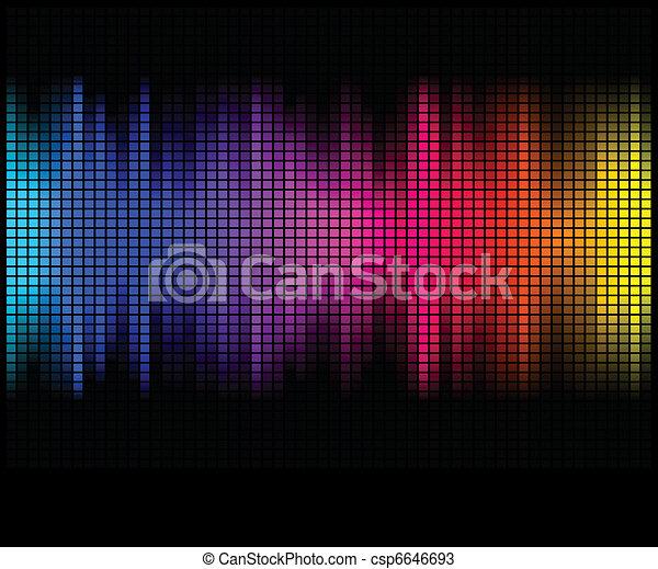 mosaico, pixel, quadrato, astratto, luci, discoteca, multicolor, fondo. - csp6646693