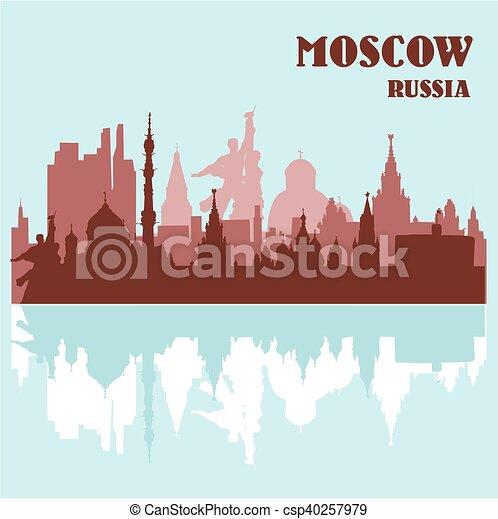 mosca, orizzonte, russia - csp40257979