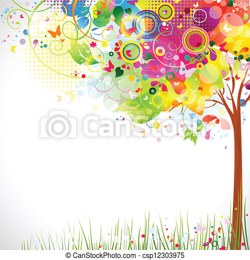 multicolor, albero - csp12303975