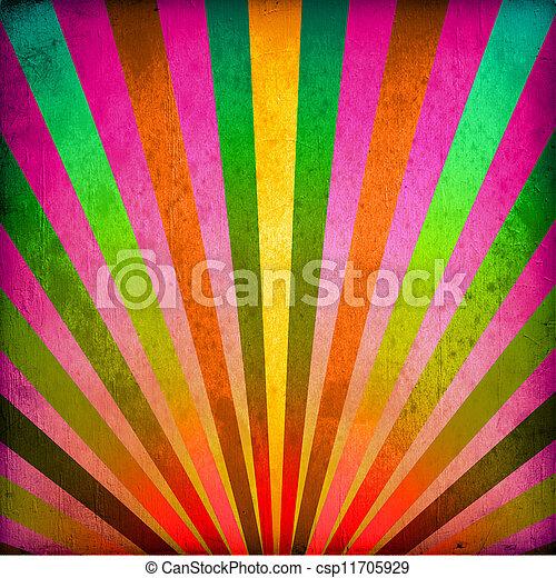 multicolor, grunge, raggi sole, fondo - csp11705929