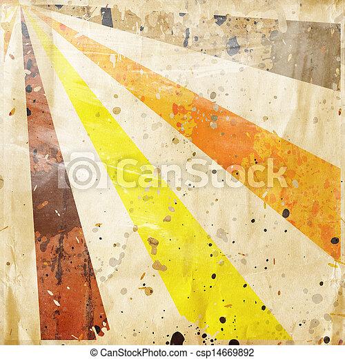 multicolor, grunge, raggi sole, fondo - csp14669892