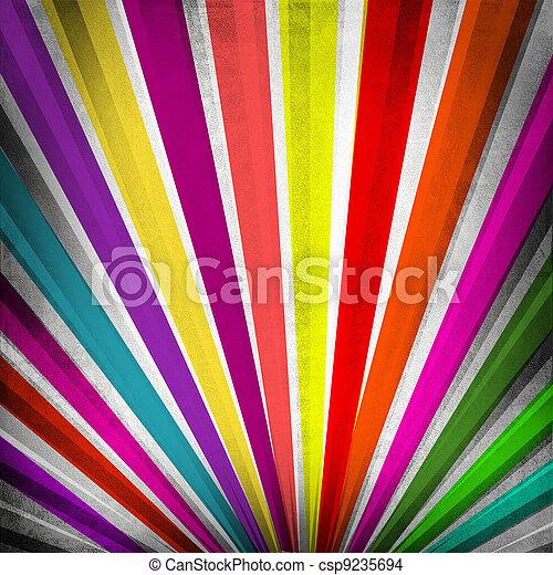 multicolor, grunge, raggi sole, fondo - csp9235694