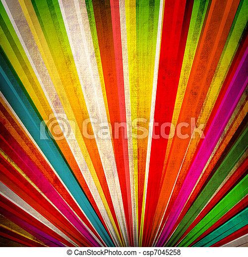 multicolor, grunge, raggi sole, fondo - csp7045258