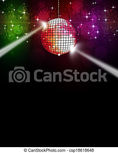 multicolor, musica, fondo, discoteca - csp18618648