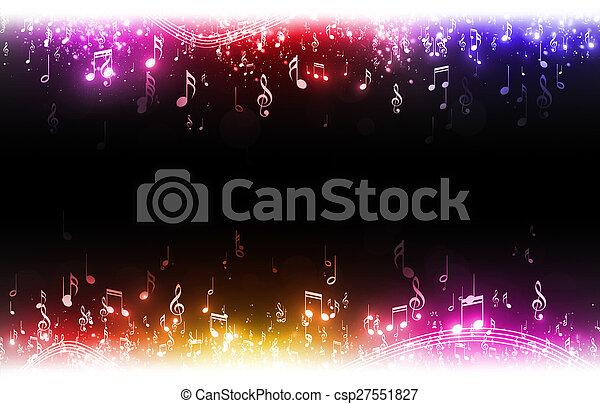 multicolor, note musica, fondo - csp27551827
