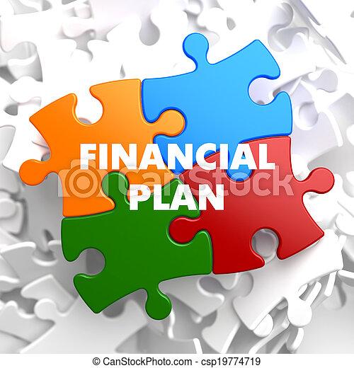 multicolor, piano finanziario, puzzle. - csp19774719