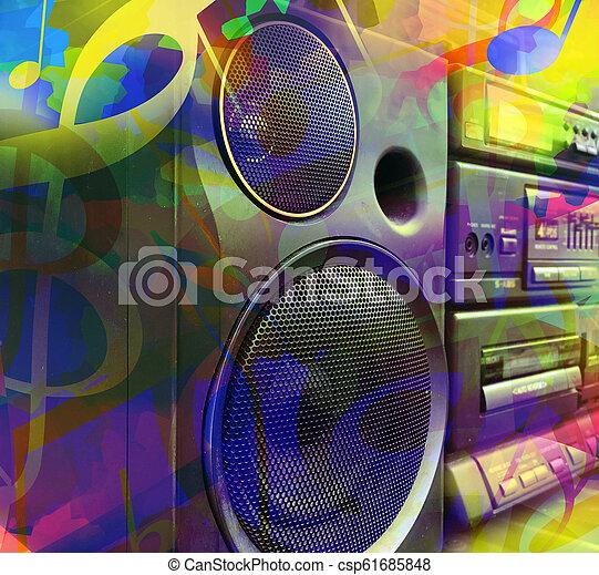 musica, colorito, fondo - csp61685848