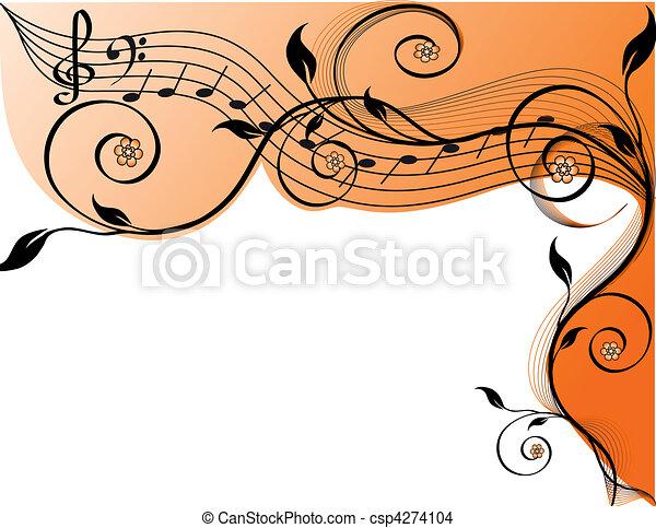 musica, fondo - csp4274104
