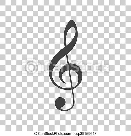 musica, grigio, fondo., segno., violino, g-clef., chiave, triplo, clef., icona, trasparente, scuro - csp38159647