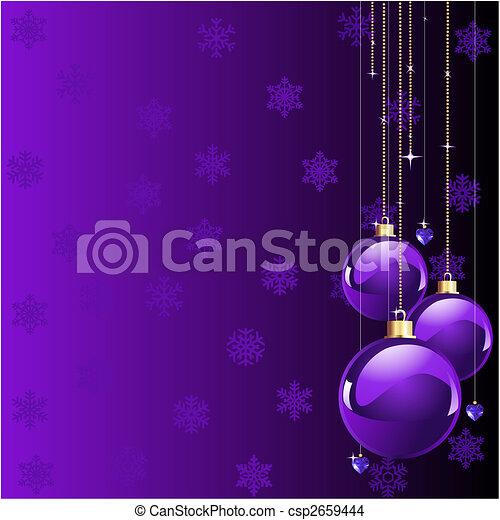 natale, viola, colori - csp2659444