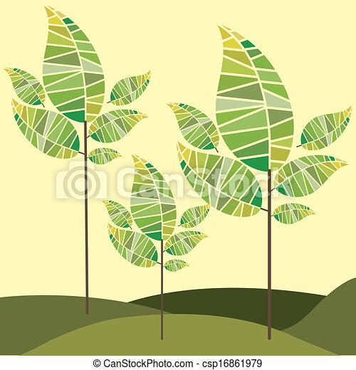natura, disegno - csp16861979