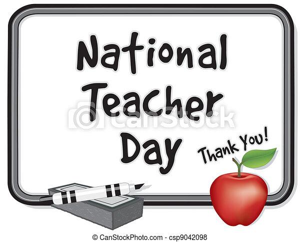 nazionale, insegnante, giorno, whiteboard - csp9042098