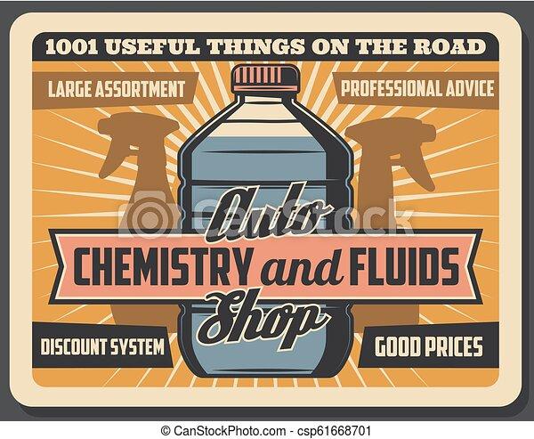 negozio, automobile, chimica, fluidi, auto - csp61668701