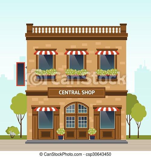 negozio, facciata, illustrazione - csp30643450