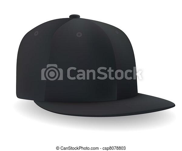 nero, berretto, baseball - csp8078803