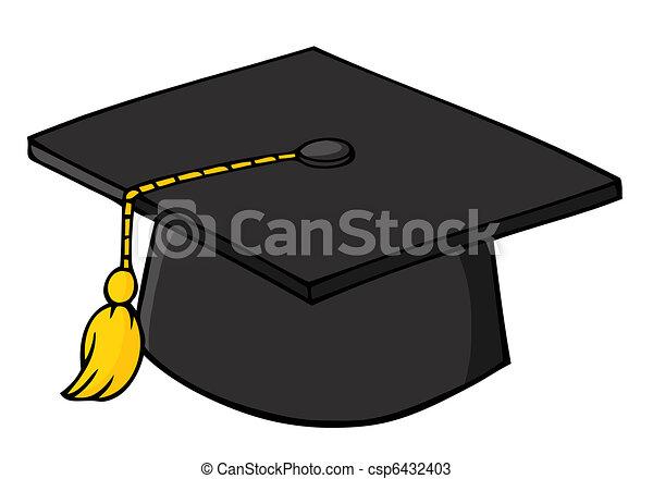 nero, berretto, graduazione - csp6432403