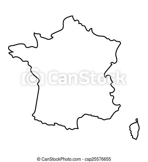 nero, francia, mappa, astratto - csp25576655