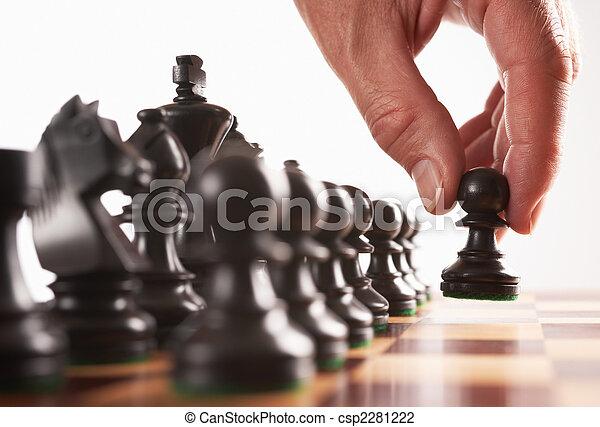 nero, spostare, giocatore, scacchi, primo - csp2281222