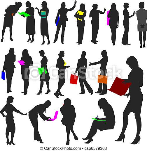 no.2., donne, lavoro, -, persone - csp6579383