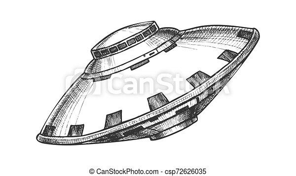 non identificato, oggetto, ufo, volare, vettore, monocromatico - csp72626035