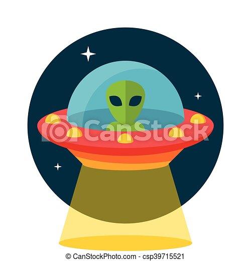 non identificato, volare, ufo, oggetto - csp39715521