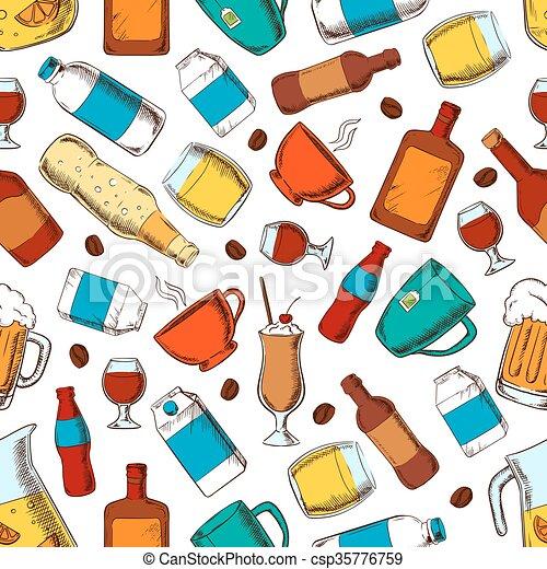 nonalcoholic, bibite, alcool, modello - csp35776759