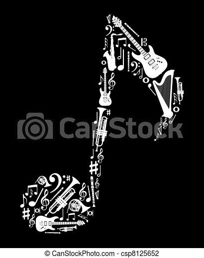 nota, strumenti, forma, musica - csp8125652