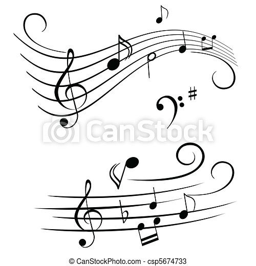 note, doga, musicale - csp5674733