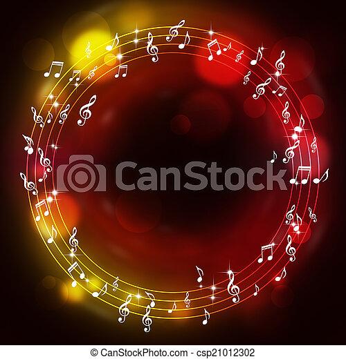 note, muisc, multicolor, fondo - csp21012302