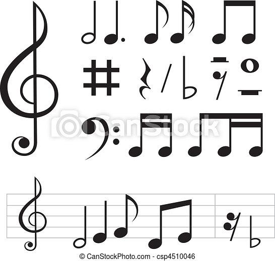 note musica, fondamentale - csp4510046