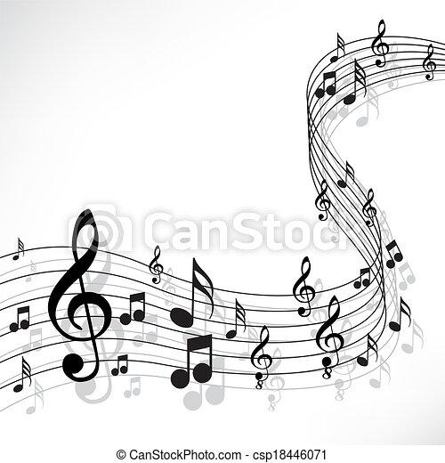 note, musica - csp18446071