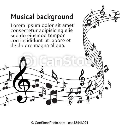 note, musica - csp18446271