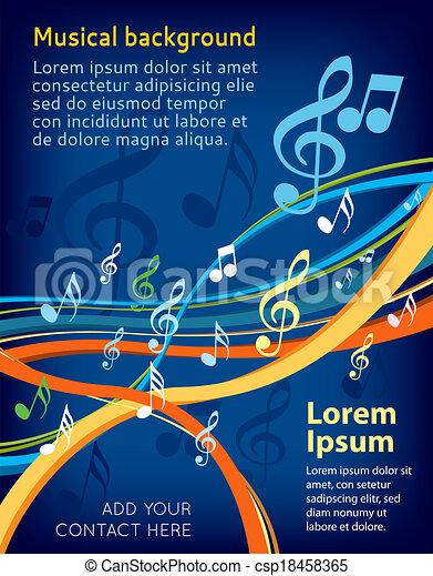 note, musica - csp18458365