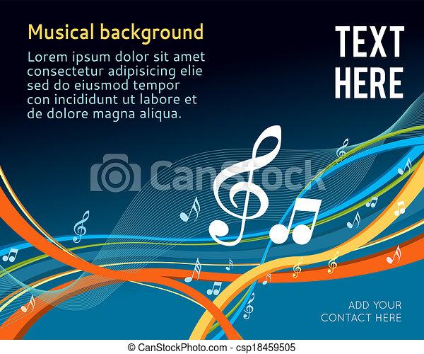 note, musica - csp18459505