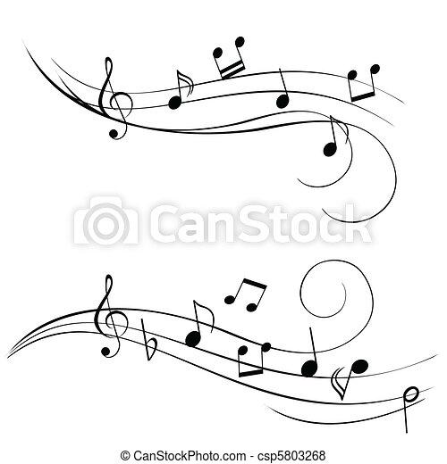 note, musica - csp5803268