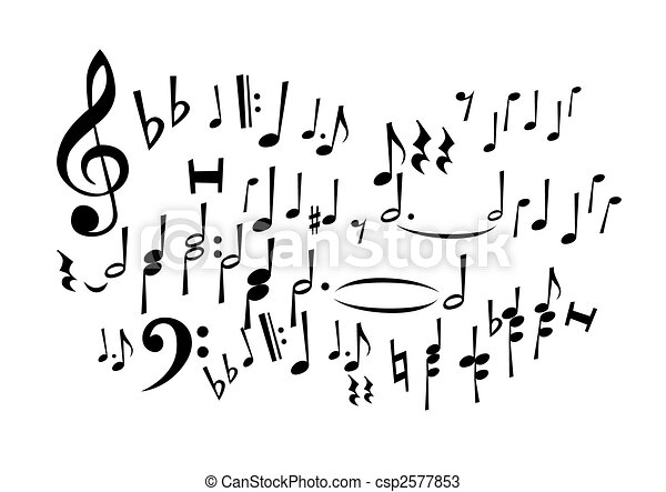 note, musica - csp2577853