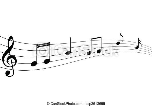 note, musicale - csp3613699