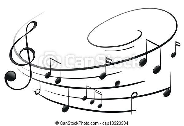 note, musicale, g-clef - csp13320304