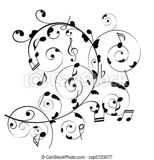note, musicale - csp5723077
